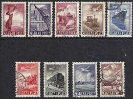 HUNGARY-1950.- Airmail (Ship,Airplane,Train) Cpl.Set III.  USED!! Mi:1120-1128. - Oblitérés