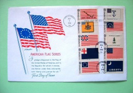 USA 1968 FDC Cover - American Flags - United States