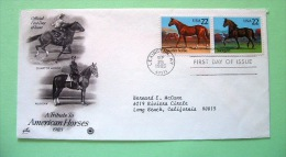 USA 1985 FDC Cover - American Horses - Stati Uniti