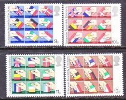 GREAT  BRITIAN  859-62   **  EUROPA  FLAGS - 1952-.... (Elizabeth II)