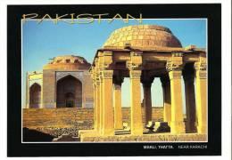186L-Postcard, Archeology, Makli Tomb Thatta Near Karachi, Pakistan, Mint - Pakistán