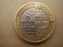Great Britain 2007 TWO POUNDS Commemorating 300 Years Of........... Used In GOOD CONDITION. - 1971-… : Monete Decimali