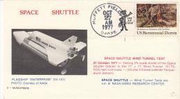 SPACE - USA - 1977 - ENTERPRISE WIND TUNNEL TEST  COVER WITH  MOFFETT FIELD POSTMARK * - Stati Uniti
