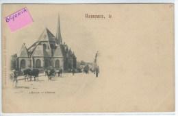CPA - 77 - NEMOURS -  Précurseur - L´ Eglise -- L´Abside - Troupeau De Vaches   - Très Bon état -  - - Nemours