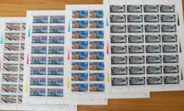 China 1996-22 Railway Construction Stamps Sheets Train Bridge - 1949 - ... People's Republic