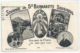 MULTIVUES--SOUVENIR DE Ste BERNADETTE SOUBIROU--AFFR LE 22/9/1954-- - Lourdes