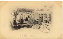 Algérie, Biskra  - Le Marché  A.Vollenweider  Scans Recto/verso - Biskra