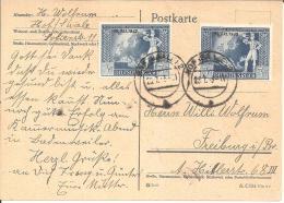 III-550/ Mi.Nr. 823 Als Portogerechte Mef. Auf Bedarfskarte - Lettres & Documents