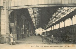 Réf : A14 -0909  : Chemin De Fer  La Gare Et Le Train à Evreux - Evreux
