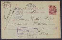 INDOCHINE VIETNAM  ENTIER CARTE  DE PHU YEN BINH TONKIN 1905 POUR LA FRANCE VIA YENBAY AT HAIPHONG  Réf 5709 - Briefe U. Dokumente
