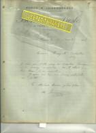 45 - Loiret - VARENNES - Facture BONNEAU-PRESLE - Charron – 1908 - France