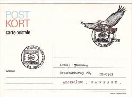Bird On Swedish Postal Stationary Used PFA Köpenhamn Hafnia 76 - Used  (G49-36) - Zonder Classificatie