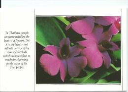 Thailand Orchids Thai Airlines Printed By Thai Watana Panich Press Co Ltd Front & Back Shown - Thailand