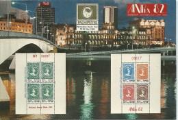 Palmpex '82 Anpex '82 Souvenir Postcard First National Philatelic Exhibition Brisbane Front & Back Shown - Postal Stationery