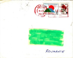Z] Lettre Turquie Turkey Mixed Stamping Affranchissement Mixte Meter Stamp Affranchissement Mécanique Coquelicot Poppy - 1921-... Republic