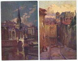 Lot   10 Cartes  Lyon Ancien     Ch  Rouvière - Otros Ilustradores