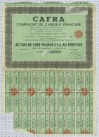 Cie De L'Afrique Française CAFRA - Afrique