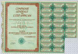 Cie Generale De L'Est Africain à Djibouti - Afrique