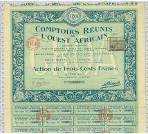 Comptoirs Réunis De L'Ouest Africain à Cotonou, Dahomey - Afrique