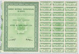 Banque Nationale Centrafricaine De Dépots à Bangui - Afrique
