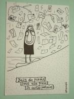 Bain De Pieds Sous Une Pluie De Carte Postales ( Filipandré ) Sillans-la-Cascade Anno 19?? ( Zie Foto Voor Details ) !! - Bourses & Salons De Collections