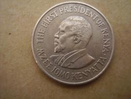 KENYA 1969  ONE SHILLING  KENYATTA Copper-Nickel  USED COIN In VERY GOOD CONDITION. - Kenya