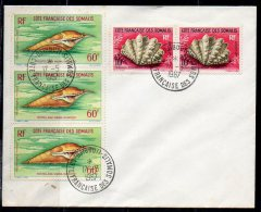 French Somali Coast 1962 / Mi 344 , 347 - Shells - Used (o) Cover - French Somali Coast (1894-1967)