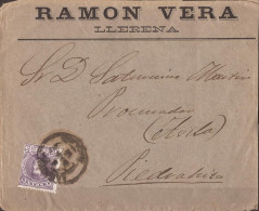 ESCA245-LC266.CARTA DE LLERENA( Badajoz) A PIEDRAHITA ( Avila) ¿1905?.( Ed 245).MUY BONITA - Brieven En Documenten