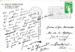 01680 Postal De Alpes Maritimes A Neuville 1969 - Aéreo