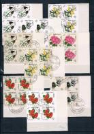 Bhutan Imperf Error Ungezähnt Nicht Im Katalog Blumen Flower 130/38B Scarce Rare Als Viererblock !!!! - Bhutan
