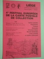 4e Festival Européen De La Carte Postale De Collection ( Broux CCL ) / Anno 1985 N° 012 ( Zie Foto Voor Details ) !! - Bourses & Salons De Collections