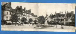 Beaune La Place Carnot Carte Double. Rare - Beaune
