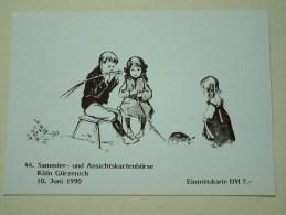 Sammler Und Ansichtkartenbörse Köln Gürzenich 10 Juni 1990 / Eintrittskarte DM 5 ( Zie Foto Voor Details ) !! - Bourses & Salons De Collections