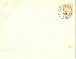 LBL13- CHINE EP ENVELOPPE MOUCHON 15c OBLITEREE SHANGHAI 7/2/1907 NON VOYAGEE ACEP N° 5 - China (1894-1922)