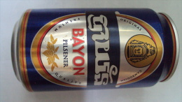 Cambodia Cambodge 330ml Empty Beer Can With Brand Of Bayon / Opened By 2 Holes At Bottom - Cannettes