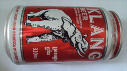 Cambodia 330ml Empty Beer Can With Brand Of Klang / Opened By 2 Holes At Bottom - Cannettes