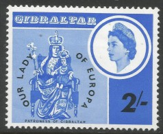 Gibraltar. 1966 Centenary Of Re-enthronement Of 'Our Lady Of Europa'. 2/- MH - Gibraltar