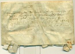 Belgique - Précurseur En Peau De Namur V/ Gembloux Du 14/11/1573, Superbe, See Scan - 1598-1621 (Independent Netherlands)