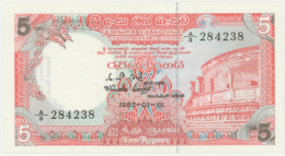 Sri Lanka  5 Rupees 1.1.1992 Pick 91a UNC - Sri Lanka