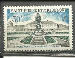 """St-Pierre & Miquelon  """"1969""""  Scott No. 387  (N*) - St.Pedro Y Miquelon"""