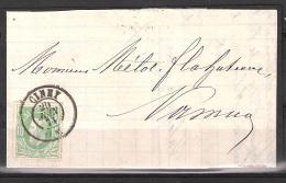 30 S/lettre De Ciney Pour Namur. - 1869-1883 Leopold II