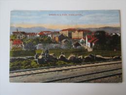 AK / Bildpostkarte 1917 Kaaden A.D. Eger, Schulviertel. Soldaten An Den Bahngleisen Verlag Karl Köhler,Kaaden Bromochrom - Sudeten