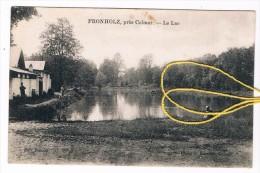 68 FRONHOLZ , Près Colmar.- Le Lac. Petite Animation. 2 Scans - Autres Communes