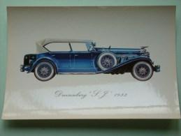 DUESENBERG SJ 1933 ( 112 X 160 Mm. / Zie Foto Voor Details ) !! - Cartes Postales