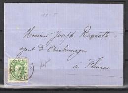 30 S/lettre De Gembloux Pour Fleurus. - 1869-1883 Leopold II
