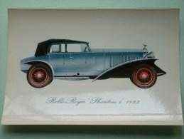 """ROLLS-ROYCE """" PHANTOM 1 """" 1923 ( 112 X 160 Mm. / Zie Foto Voor Details ) !! - Cartes Postales"""