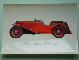 """M.G. MIDGET """" TC """" 1946 ( 112 X 160 Mm. / Zie Foto Voor Details ) !! - Cartes Postales"""
