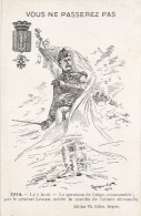 Vous Ne Passerez Pas - 1914 Le 5 Août - Garnison De Liege - Illustration De Renimel Léon - Guerra 1914-18