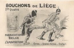 Bouchons De Liège 1ère Qualité - Fabrication Belge - Gros, Demi-gros, Détail - Illustration De A. Parent - Umoristiche