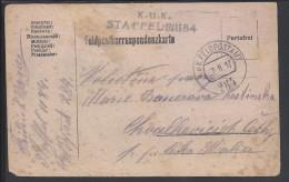 TCHECOSLOVAQUIE - 1917 -  CORRESPONDANCE DE SOLDAT POUR CESKA SKALICE - - Briefe U. Dokumente